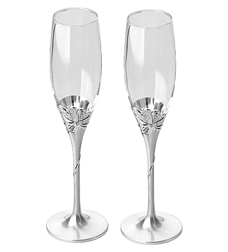 ARTHUR PRICE Heart detail champagne flutes