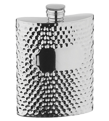 ARTHUR PRICE Hammered pewter hip flask 0.17L