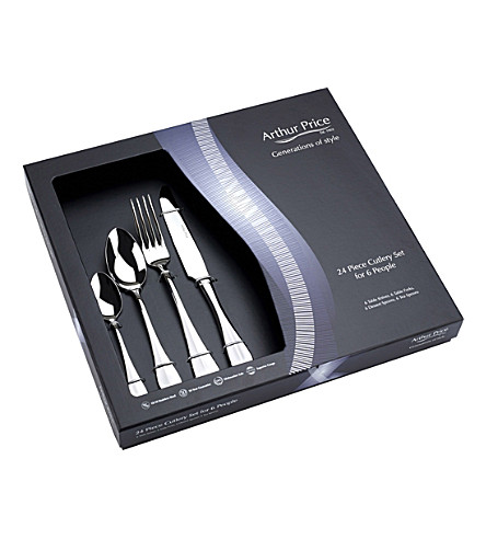 ARTHUR PRICE Baguette stainless steel 24 piece cutlery set