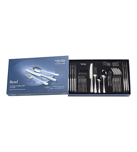 ARTHUR PRICE Bead stainless steel 32 piece box for 8