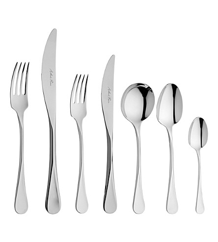 ARTHUR PRICE Cascade stainless steel 7-piece place setting