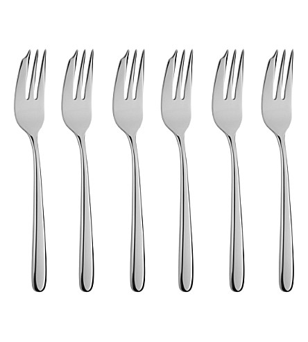 ARTHUR PRICE Echo set of 6 stainless steel pastry forks