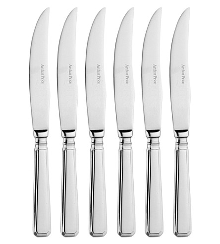 ARTHUR PRICE Grecian set of 6 stainless steel steak knives