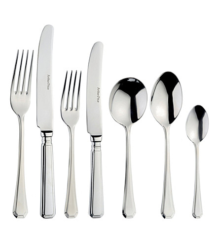ARTHUR PRICE Grecian 24-piece stainless steel cutlery set for six