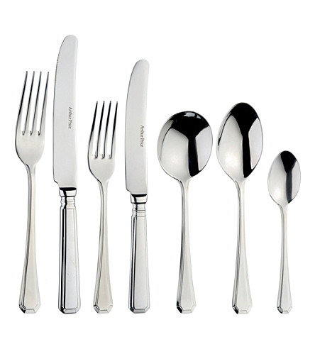 ARTHUR PRICE 44-piece stainless steel Grecian cutlery set for six