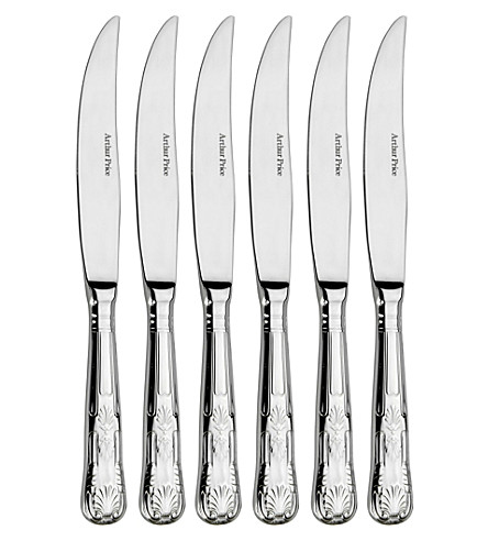 ARTHUR PRICE Kings set of 6 stainless steel steak knives