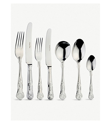 ARTHUR PRICE Kings 58 piece canteen stainless steel cutlery set for 8