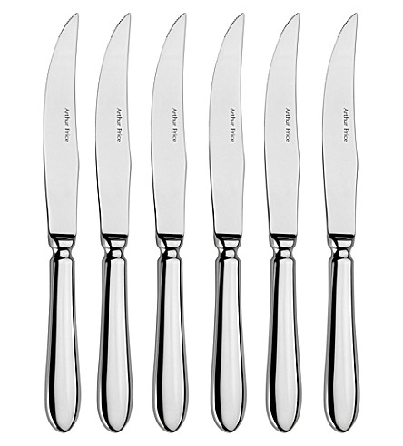 ARTHUR PRICE Old english set of 6 stainless steel steak knives