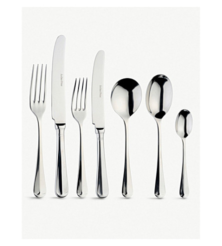 ARTHUR PRICE Rattail 58 piece canteen stainless steel cutlery set for 8