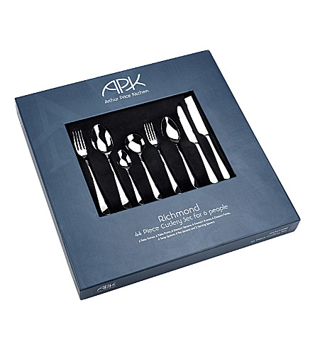 ARTHUR PRICE Richmond stainless steel 44 piece cutlery set