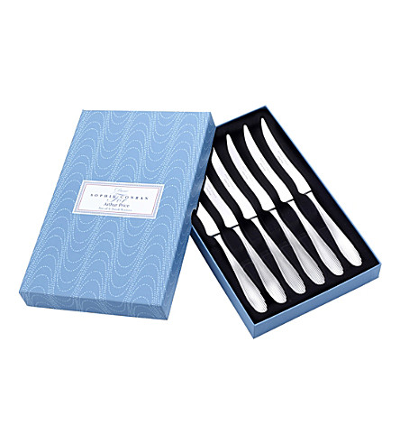 ARTHUR PRICE Sophie Conran Dune stainless steel 6 steak knives