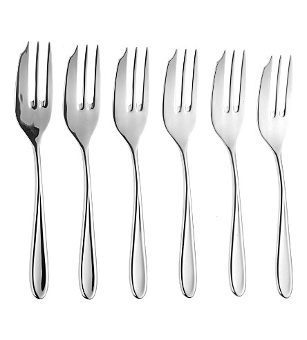 ARTHUR PRICE Sophie Conran set of 6 stainless steel pastry forks