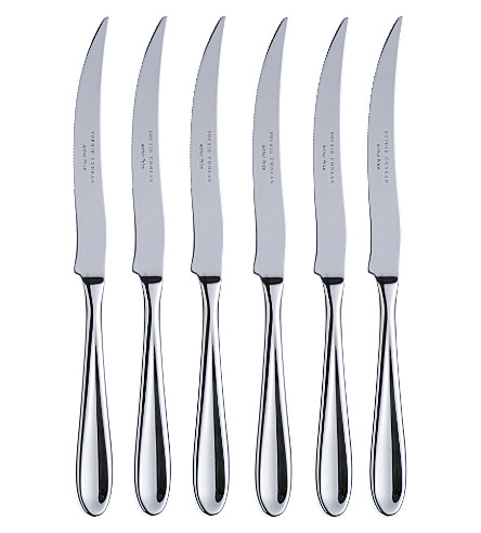 ARTHUR PRICE Sophie Conran set of 6 stainless steel steak knives