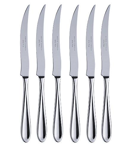 ARTHUR PRICE Sophie Conran set of 6 stainless steel steak knives