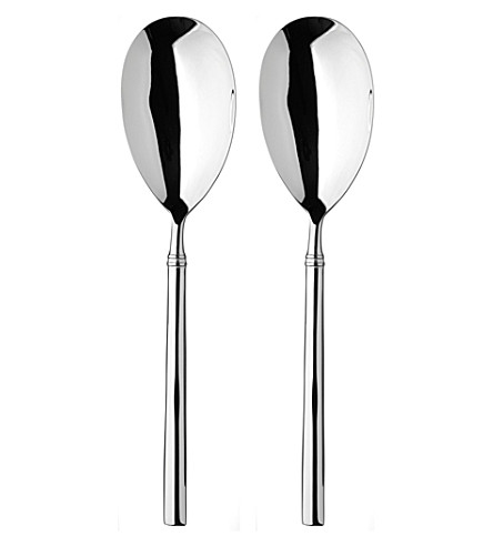 ARTHUR PRICE Valentina stainless steel pair of serving spoons
