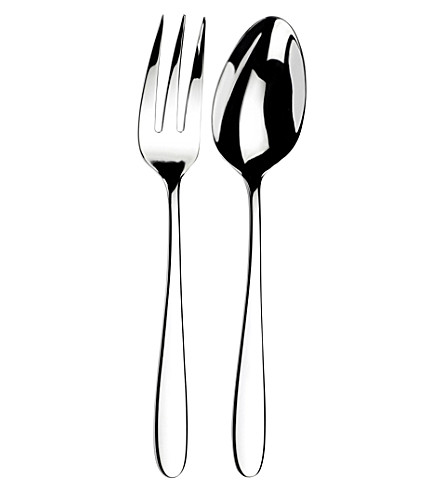 ARTHUR PRICE Willow stainless steel salad servers