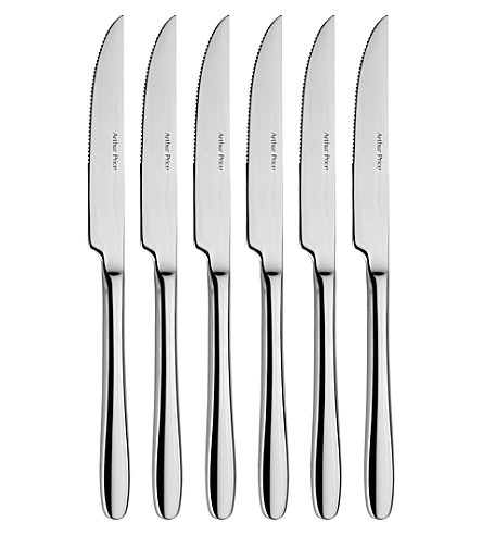 ARTHUR PRICE Willow set of 6 stainless steel steak knives
