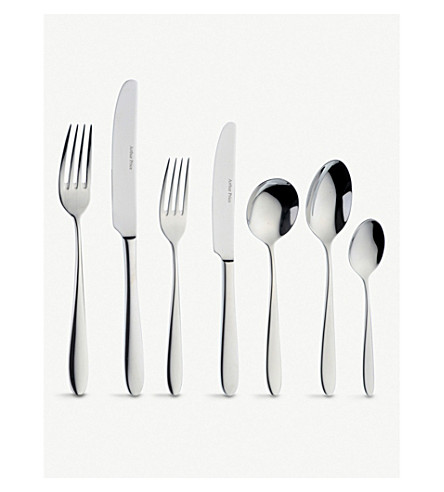 ARTHUR PRICE Willow stainless steel 44 piece cutlery set