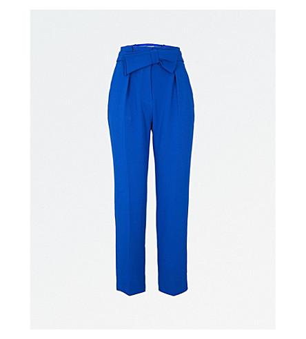 CLAUDIE PIERLOT Petula crepe trousers (Blue