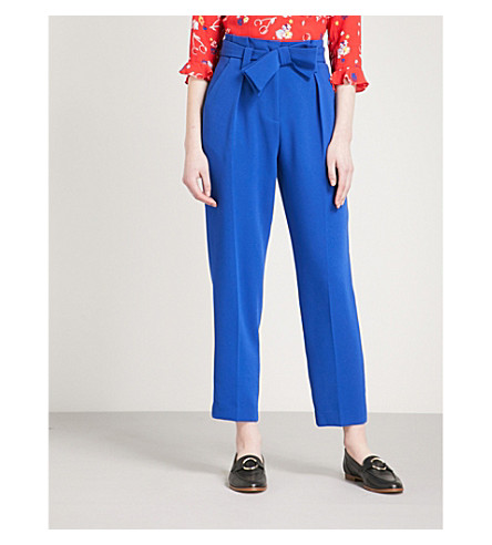 CLAUDIE PIERLOT Petula crepe trousers (Blue