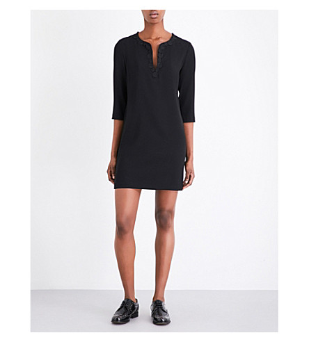 CLAUDIE PIERLOT Raven crepe dress (Noir