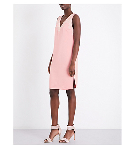 CLAUDIE PIERLOT Rapide crepe shift dress (Blush