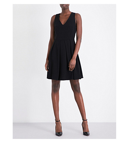 CLAUDIE PIERLOT Rire crepe mini dress (Noir