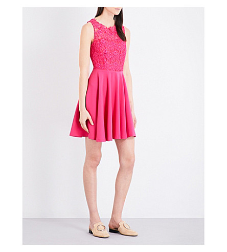 CLAUDIE PIERLOT Rosalianne lace dress (Fuchsia