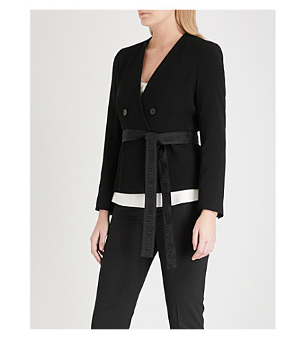 CLAUDIE PIERLOT Double-breasted crepe jacket (Black