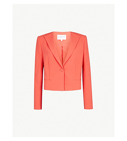 CLAUDIE PIERLOT Single-breasted crepe jacket (Coral