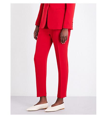 CLAUDIE PIERLOT Parcoeur tapered crepe trousers (Ruby