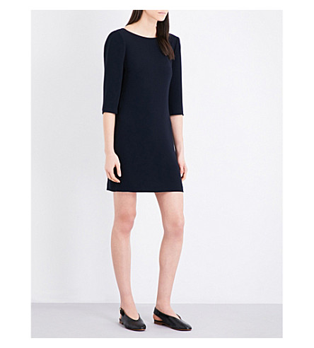 CLAUDIE PIERLOT Rimel crepe mini dress (Marine
