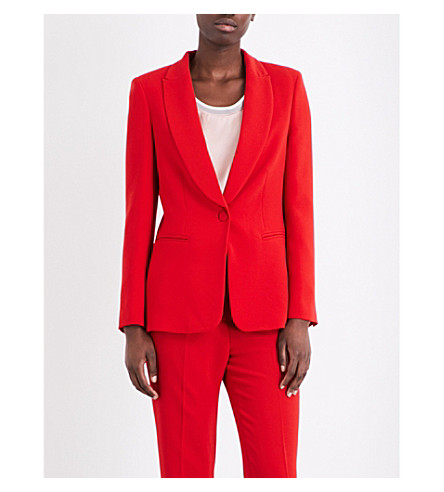 CLAUDIE PIERLOT Valentina crepe blazer (Ruby