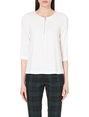 CLAUDIE PIERLOT Bastille zip-detailed crepe blouse