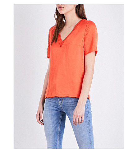 CLAUDIE PIERLOT Bambin crepe top (Orange