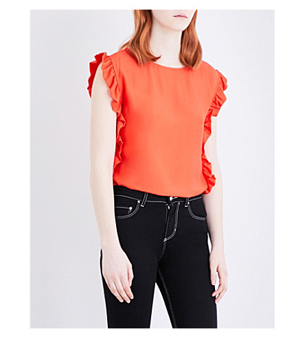 CLAUDIE PIERLOT Bakri crepe top (Orange