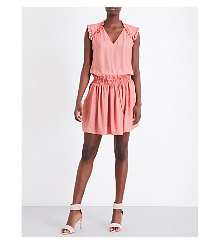 CLAUDIE PIERLOT Recif crepe mini dress (Blush