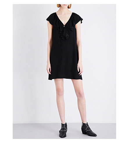CLAUDIE PIERLOT Rock crepe dress (Noir