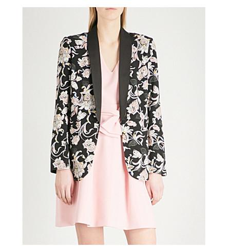 CLAUDIE PIERLOT Victoriane Bis crepe jacket (Black