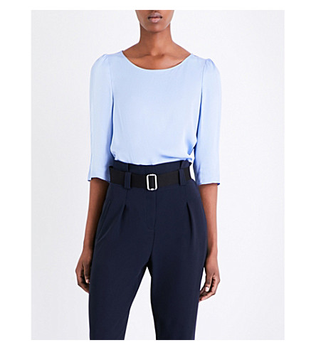 CLAUDIE PIERLOT Baker satin top (Glacier