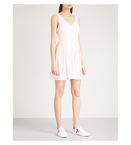 CLAUDIE PIERLOT Rencontre bow-detail crepe dress (White