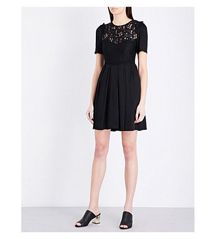 CLAUDIE PIERLOT Rejane lace dress (Noir