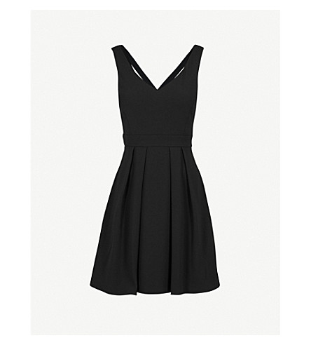 CLAUDIE PIERLOT Bow-detail crepe skater dress (Black