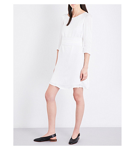 CLAUDIE PIERLOT Rififi satin dress (Ecru