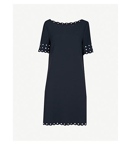 CLAUDIE PIERLOT Scalloped-trims crepe mini dress (Blue