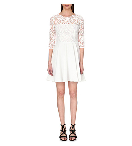 CLAUDIE PIERLOT Rhodes crepe dress (Blanc