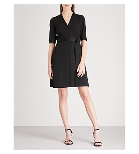 CLAUDIE PIERLOT V-neck crepe wrap dress (Black
