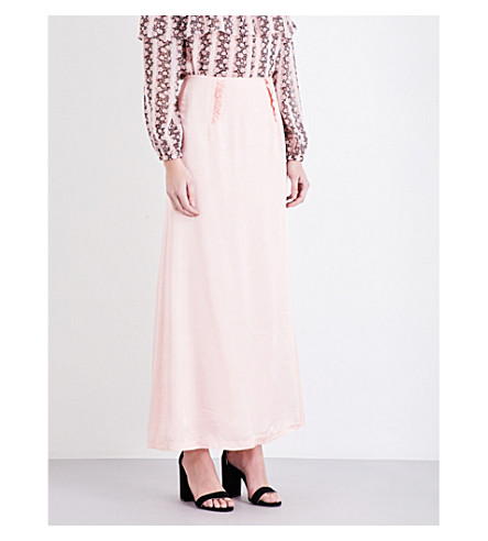 CLAUDIE PIERLOT Smile satin skirt (Poudre