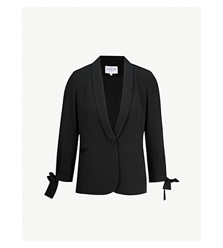 CLAUDIE PIERLOT Single-breasted crepe tuxedo jacket (Black