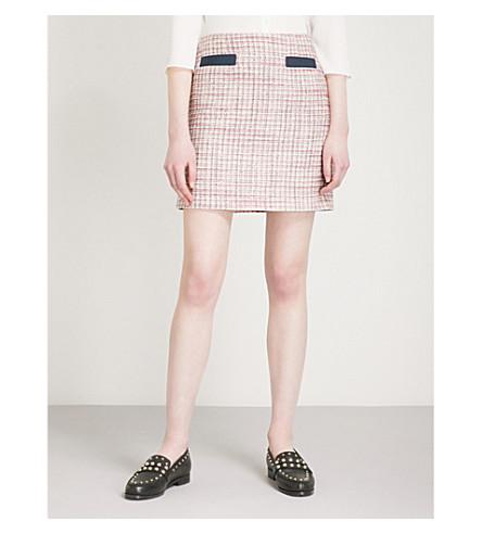 CLAUDIE PIERLOT Tweed mini skirt (Cream